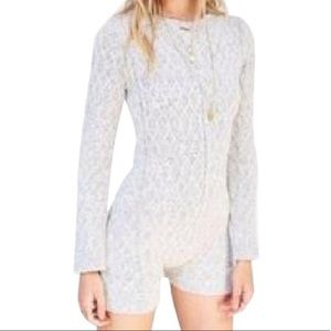 For Love And Lemons Other - For Love and Lemons Knitz Grey Romper